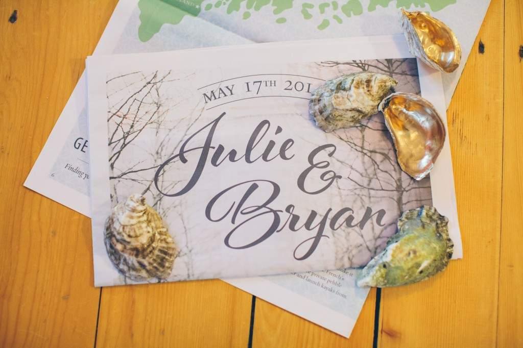 French's Point Wedding Invite