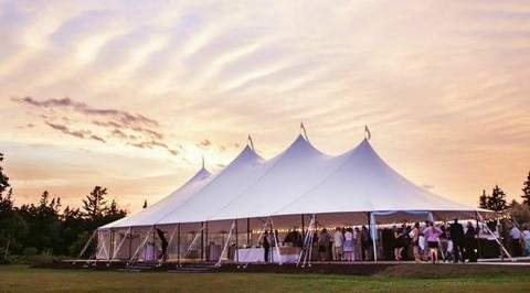 Tent Reception at French's Point in Midcoast Maine - Coastal Maine Wedding Venue