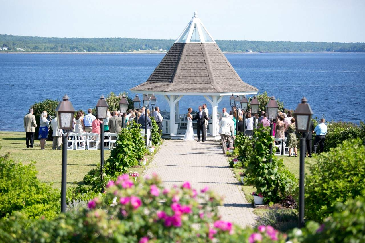 French's Point Gazebo - Coastal Maine Wedding Venue Oceanside Destination