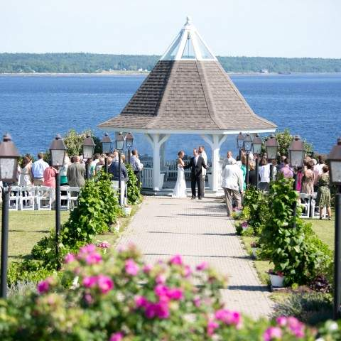 French's Point Gazebo - Coastal Maine Wedding Venue Oceanside Destination