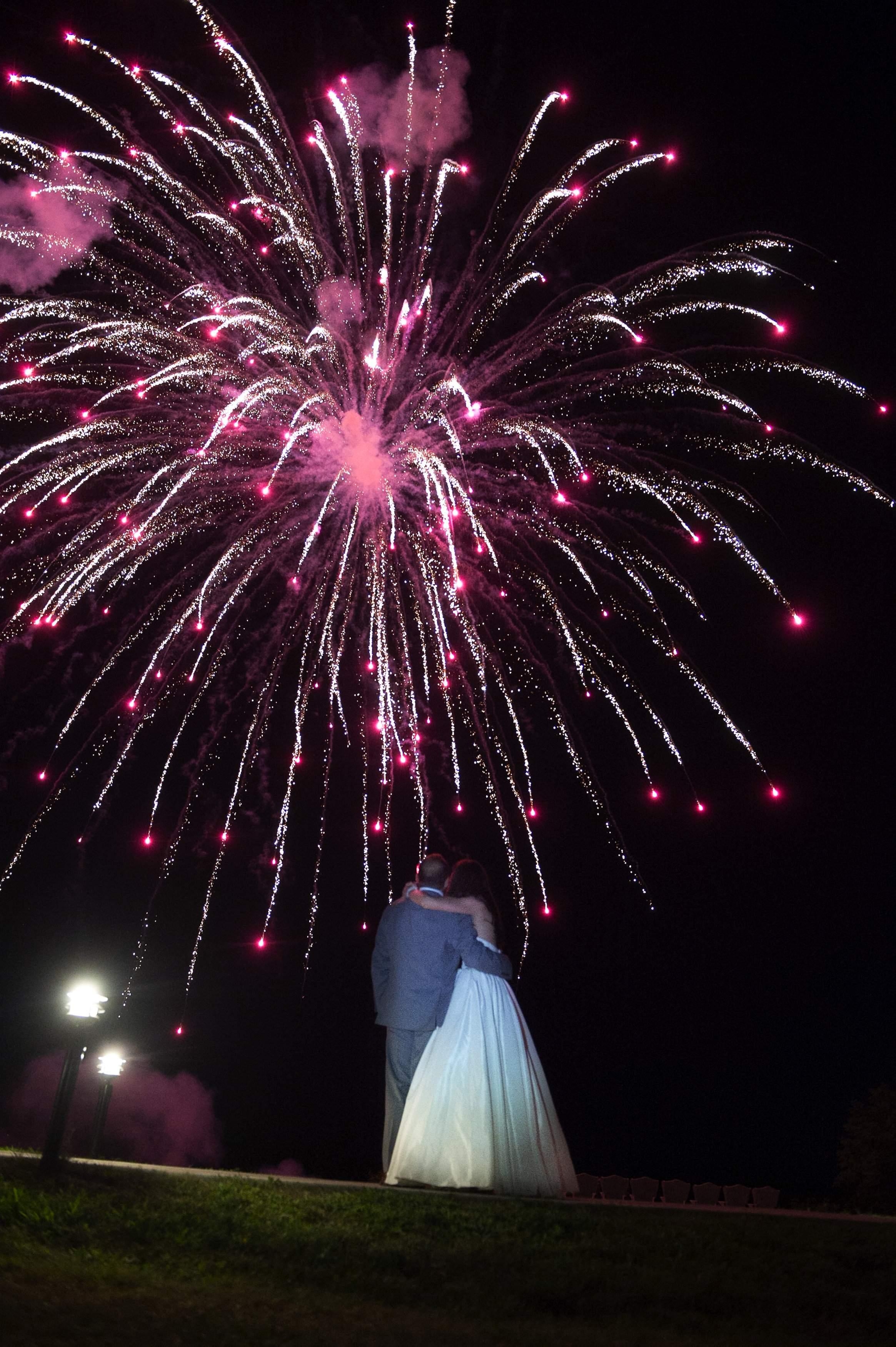 Fireworks at Wedding - Tent Reception - French's Point in Midcoast Maine - Coastal Maine Wedding Venue - Oceanside Destination