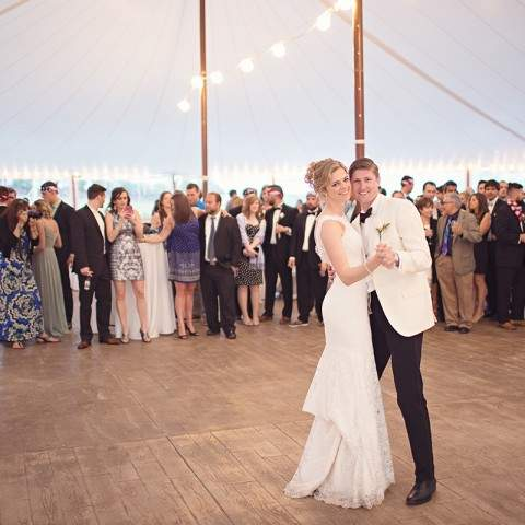 Tent Reception at French's Point - Coastal Maine Wedding Venue - Oceanside Destination Wedding - Mat & Ash Photography