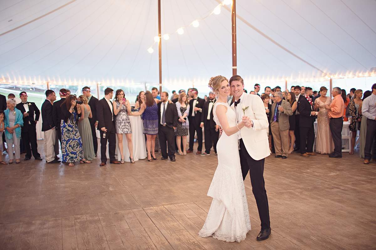 Tent Reception at French's Point - Coastal Maine Wedding Venue - Oceanside Destination Wedding