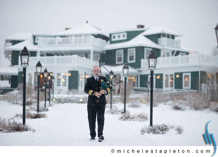 Winter Wedding in Maine - Outdoor Ceremony - Coastal Maine Wedding Venue - French's Point