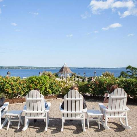 French's Point Oceanside Destination Wedding Venue in Midcoast Maine - Coastal Vacation Home Rentalck chairs