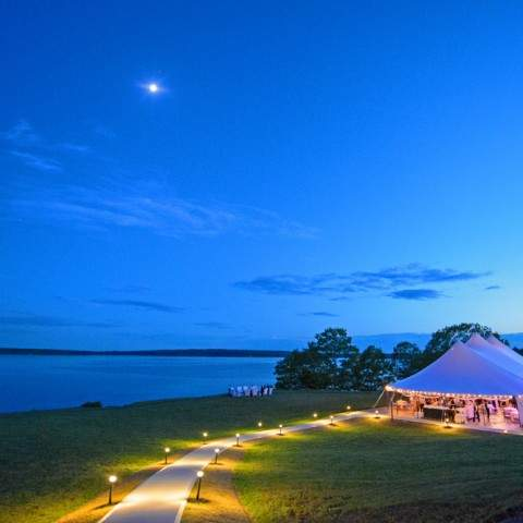 Tent Reception - French's Point in Midcoast Maine - Coastal Maine Wedding Venue - Oceanside Destination - Danielle Brady Photography