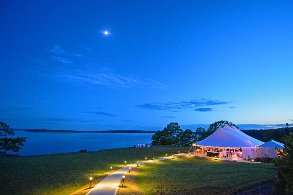 Tent Reception - French's Point in Midcoast Maine - Coastal Maine Wedding Venue - Oceanside Destination