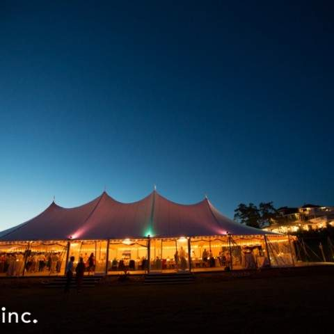 Tent Reception at French's Point in Midcoast Maine - Coastal Maine Wedding Venue - Oceanside Destination - Emilie Inc Photography