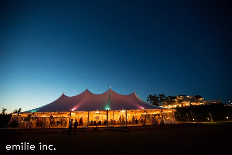 Tent Reception at French's Point in Midcoast Maine - Coastal Maine Wedding Venue - Oceanside Destination