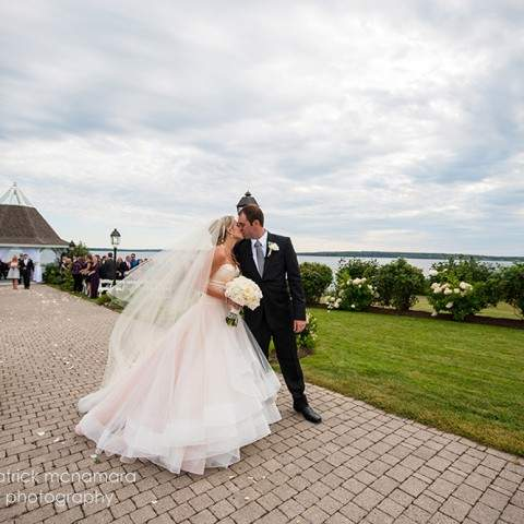 Patrick McNamara Photography - French's Point Coastal Maine Wedding Venue - Gazebo Ceremony Oceanside