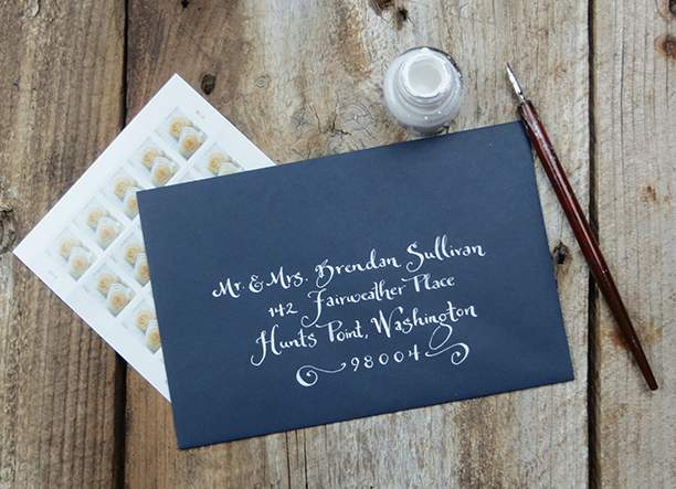 Maine Wedding Calligraphy: Vendor Feature: Anna Kessler Calligraphy
