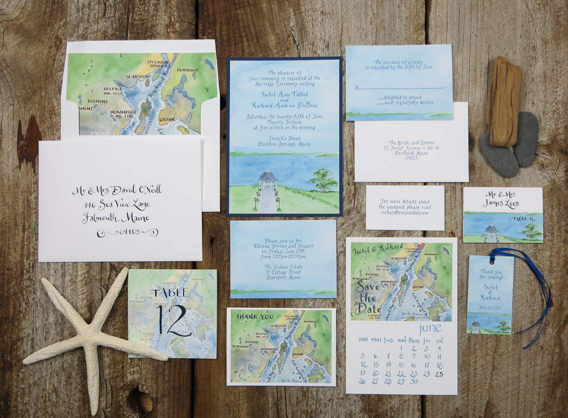 French's Point Wedding Invites
