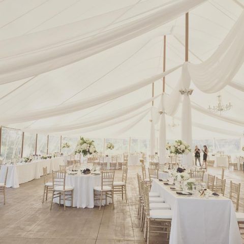 French's Point Tent Venue in Midcoast Maine - Oceanside - Emily Delamater Photography