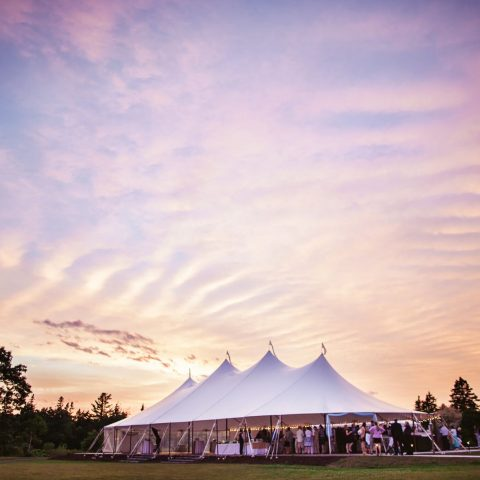 outdoor wedding venue in maine
