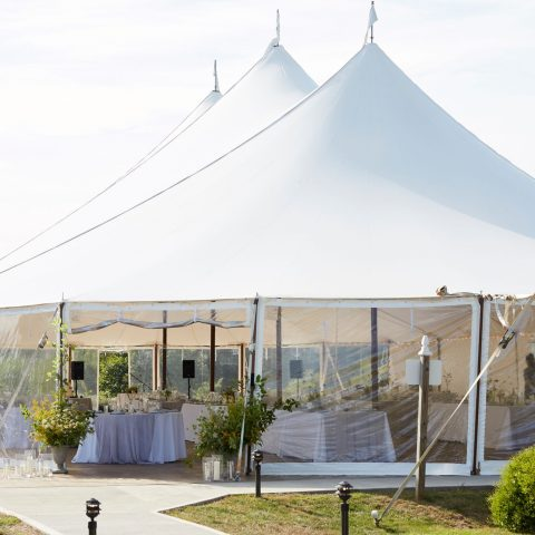 French's Point Weddings Sail Cloth Tent in Maine