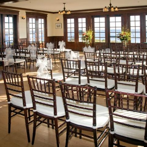 French's Point Retreat House - Coastal Maine Wedding Venue - Destination Weddings Oceanside - Indoor Ceremony