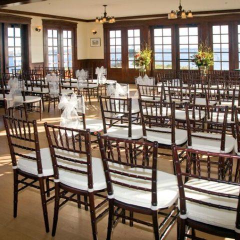 French's Point Retreat House - Coastal Maine Wedding Venue - Destination Weddings Oceanside - Indoor Ceremony