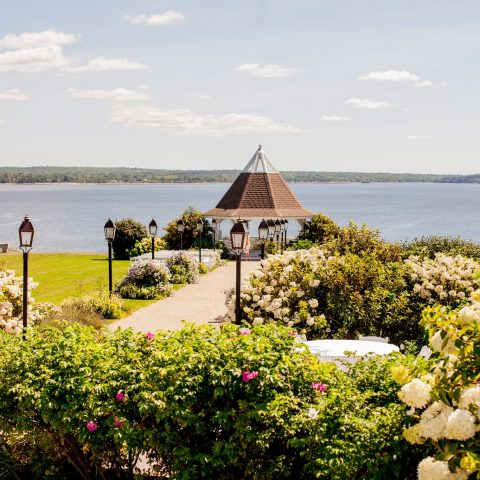 French's Point Gazebo in Midcoast Maine - Oceanside Destination Wedding Venue - Coastal Maine Weddings