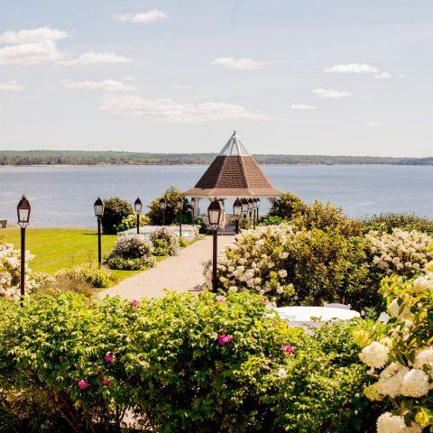French's Point Gazebo in Midcoast Maine - Oceanside Destination Wedding Venue - Coastal Maine Weddings