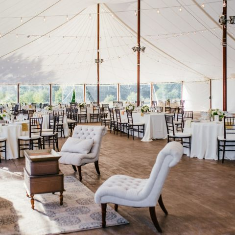 Tent Wedding Reception at French's Point in Midcoast Maine - Coastal Maine Wedding Venue - Mikhail Glabets Photography