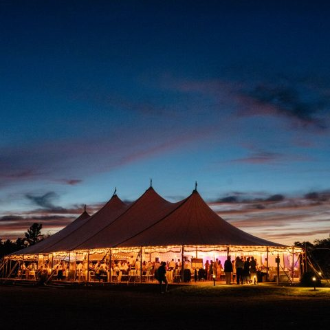French's Point Wedding Reception in the Sail Cloth Tent