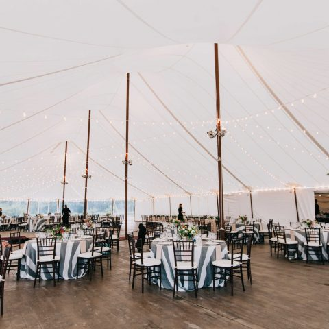 Cuppa Photography - Tent Wedding Reception at French's Point in Midcoast Maine - Coastal Maine Wedding Venue