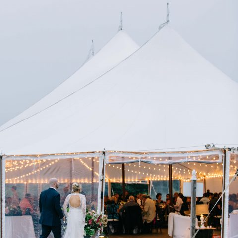 French's Point Destination Wedding in the Tent on the Coast of Maine