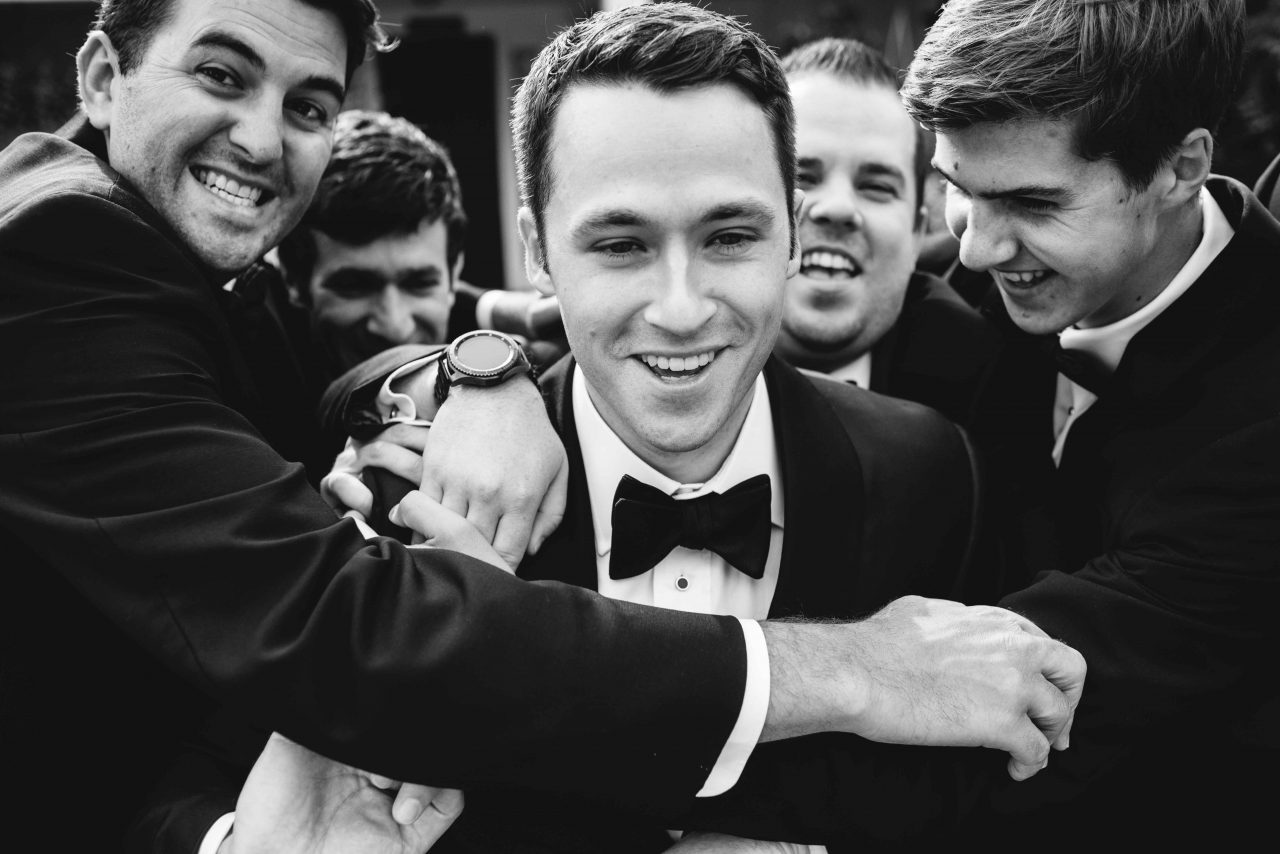 Groomsmen at a Summer Coastal Wedding at French's Point Maine in July