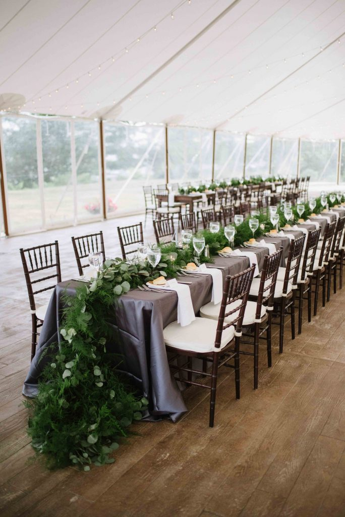 Summer Tent Wedding at French's Point Maine