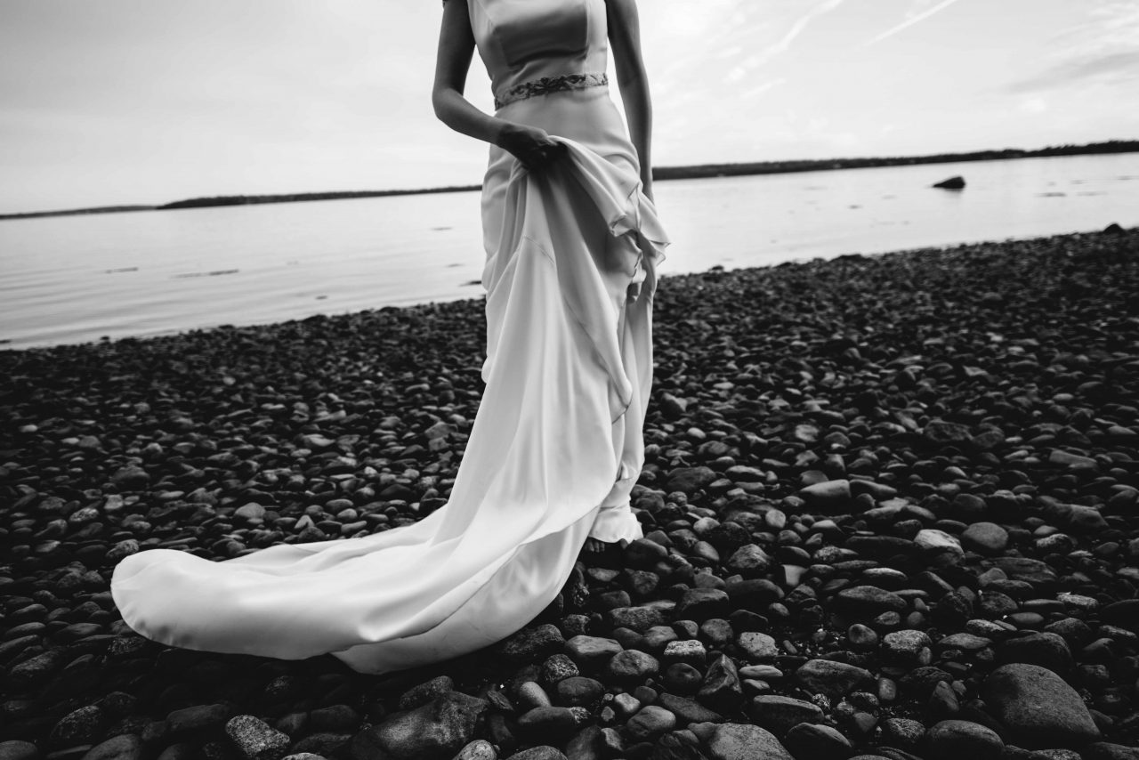 Summer Beachside Wedding at French's Point Maine