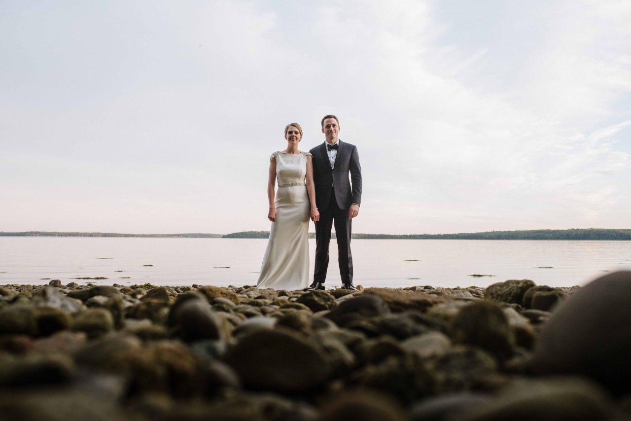 French's Point Summer Beach Wedding on the Coast of Maine