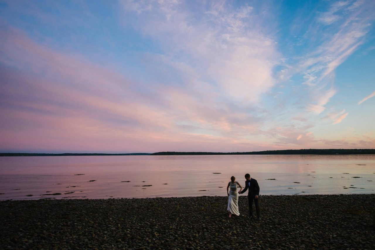 Summer Maine Wedding at French's Point in July