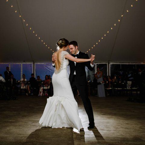 Summer Tent Wedding on the Coast of Maine at French's Point