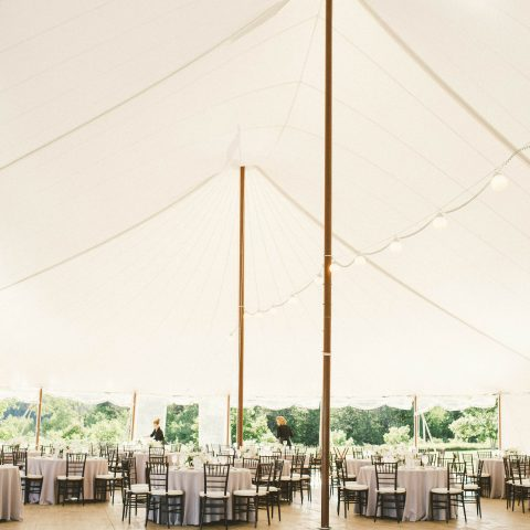 French's Point Destination Wedding Reception in the Tent