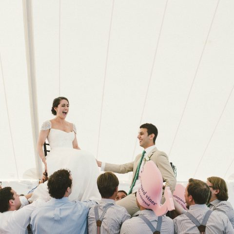 French's Point Wedding Reception in the Tent on the Coast of Maine