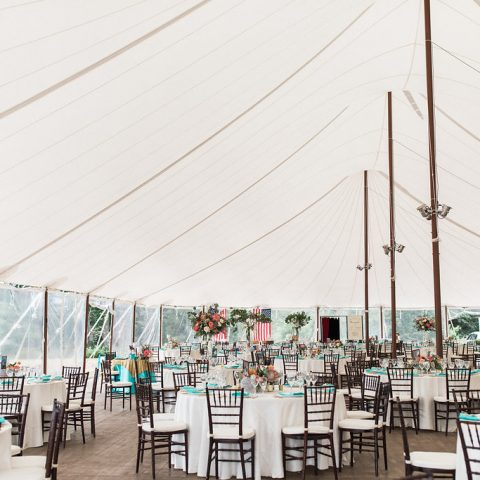 Tent at French's Point Wedding in Maine