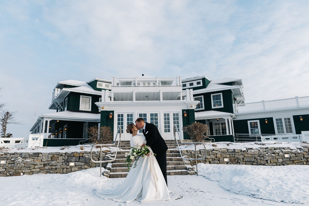 French's Point - Winter Wedding Venue in Maine - Coastal Destination Wedding Venue - Holiday Home Rental - Weekend Timeline - Greta Tucker Photography