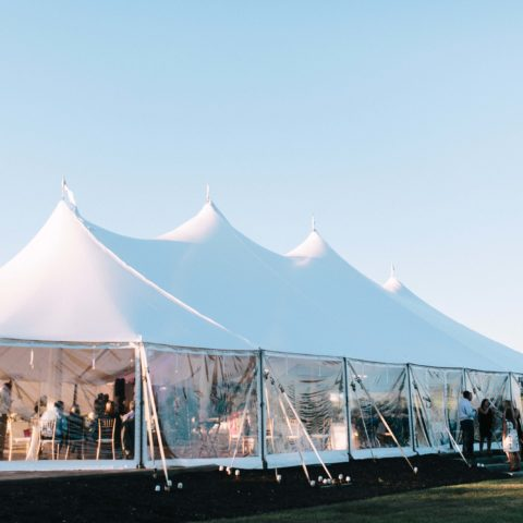 Tent Wedding Venue in Maine - Destination Tent Wedding - Coastal Maine - Emily Delamater Photography