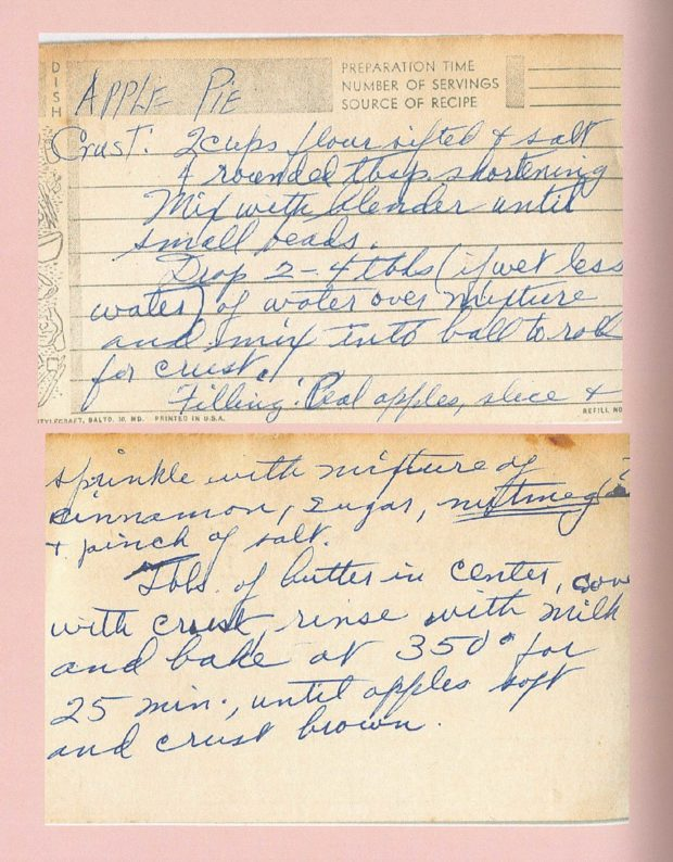 Nana's Apple Pie Recipe