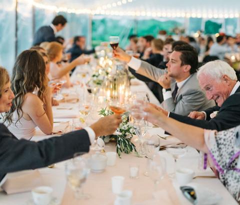 Greta Tucker Photography - Maine Wedding - Sail Cloth Tent - Tent Wedding