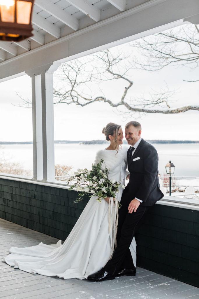 Winter Wedding in Maine - Maine Wedding Venue - Coastal Maine Winter - French's Point - Destination Wedding Venue - Greta Tucker Photography