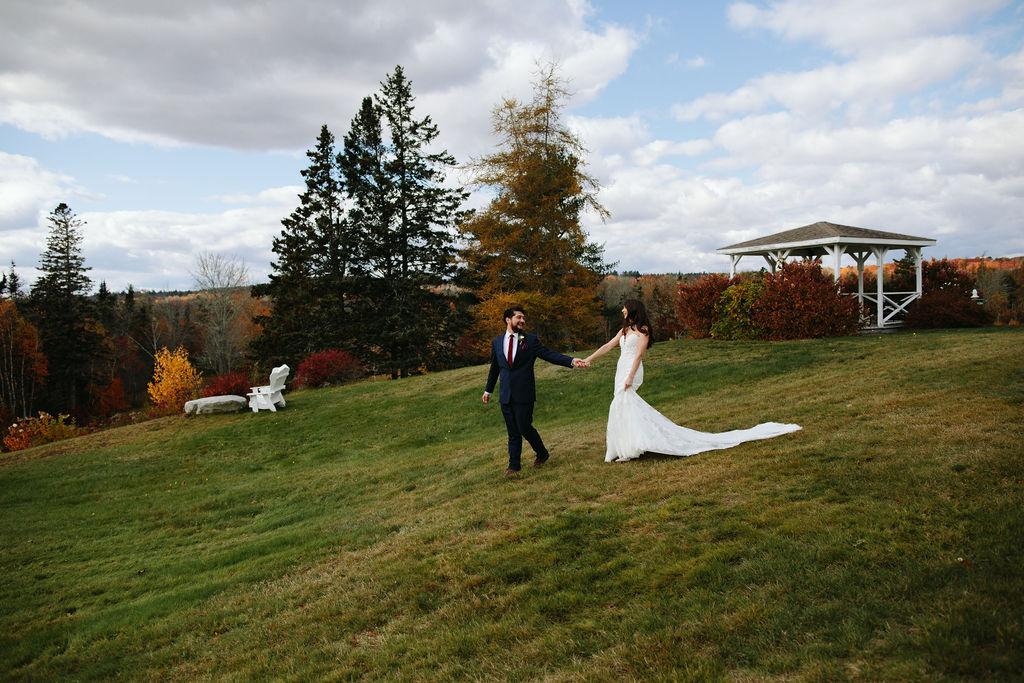 French's Point Autumn Wedding