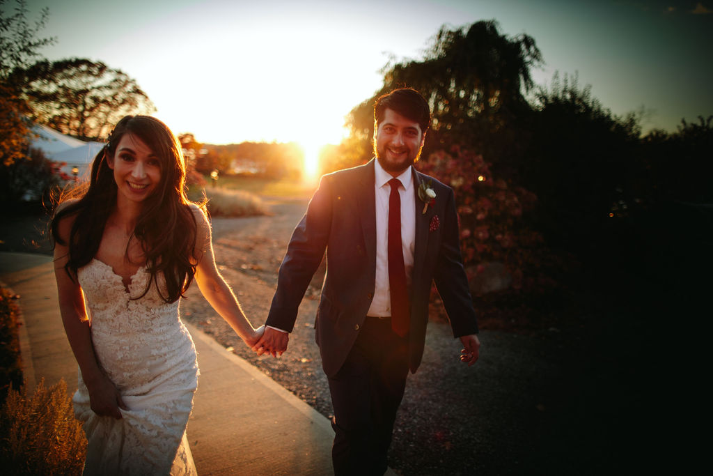 French's Point Sunset Wedding