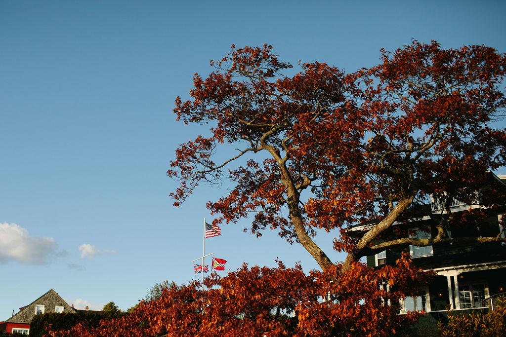 French's Point - Coastal Maine Destination Wedding Venue - October Fall Wedding - Leslie Swan Photography