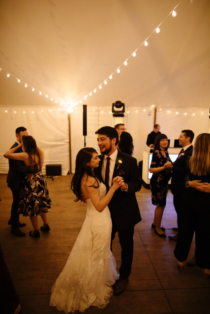 French's Point Tent Wedding