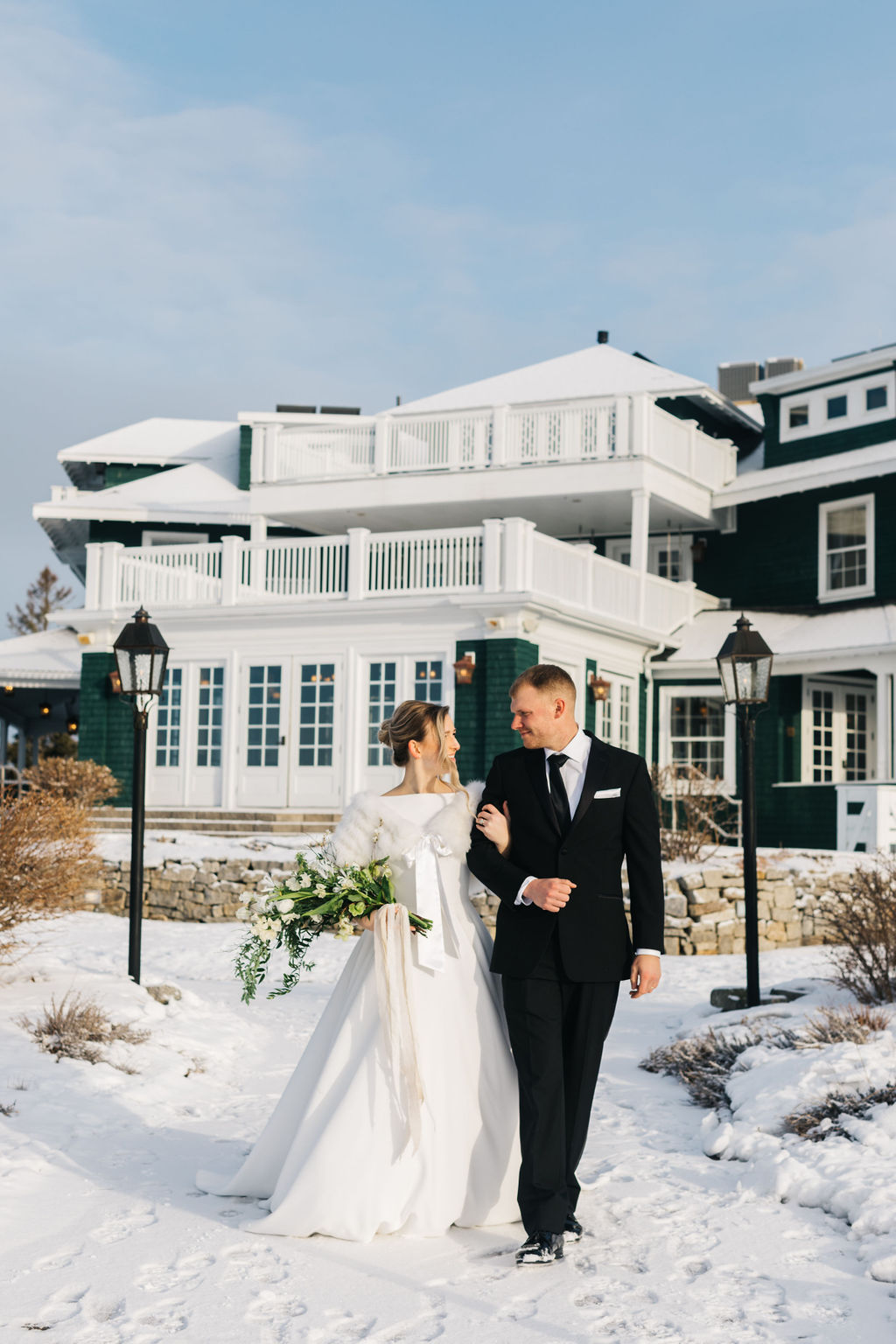 French's Point Winter Wedding